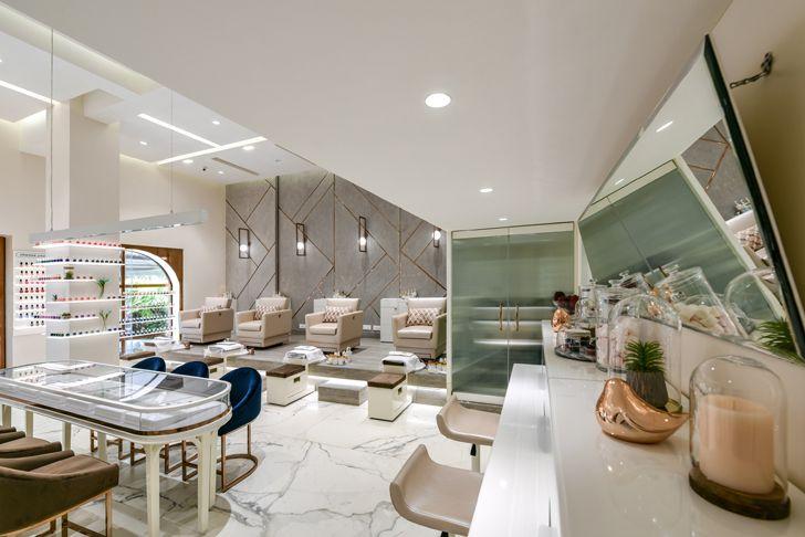 """hairstyling area the white door nail salon minnie bhatt designs indiaartndesign"""