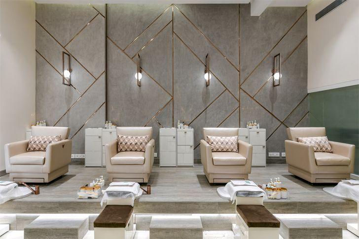 """pedicure area the white door nail salon minnie bhatt designs indiaartndesign"""