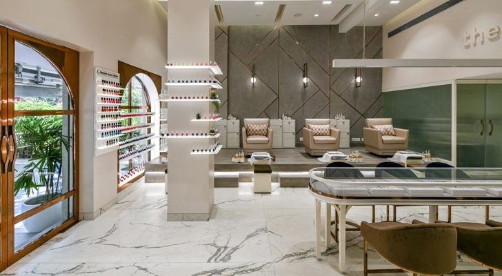 """the white door nail salon minnie bhatt designs indiaartndesign"""