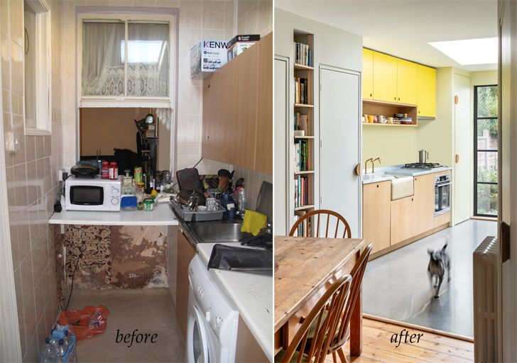 """kitchen before and after janus house office S&M indiaartndesign"""