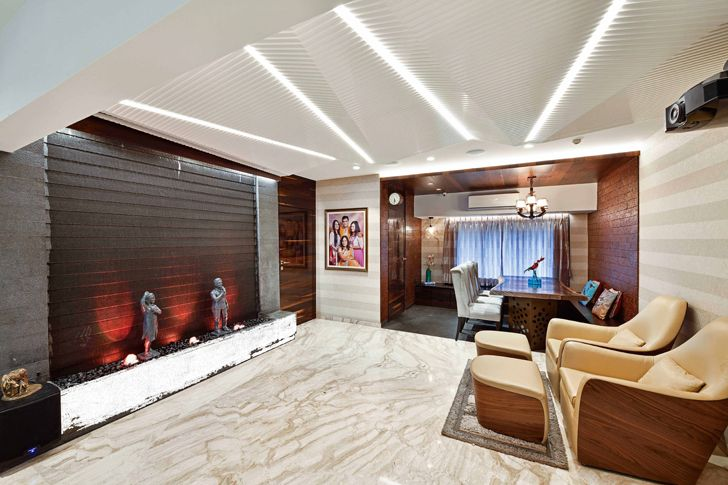 """water body with LED lights agarwal residence sunali goenka design indiaartndesign"""