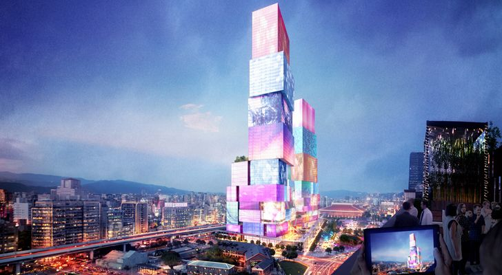 """Taipei Twin Towers MVRDV indiaartndesign"""