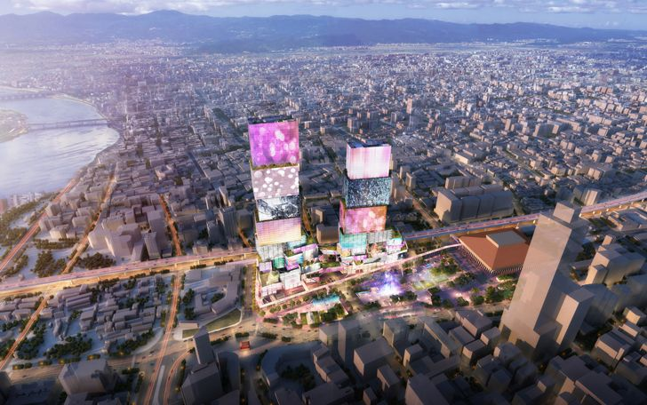 """aerial view Taipei Twin Towers MVRDV indiaartndesign"""