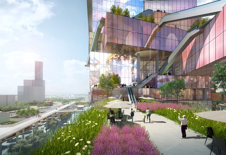 """pedestrian paths Taipei Twin Towers MVRDV indiaartndesign"""