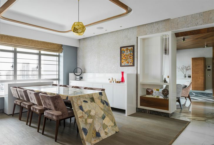 """dining area mumbai residence zz architects indiaartndesign"""