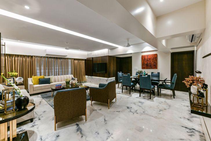 """living dining mumbai residence AUM architects indiaartndesign"""