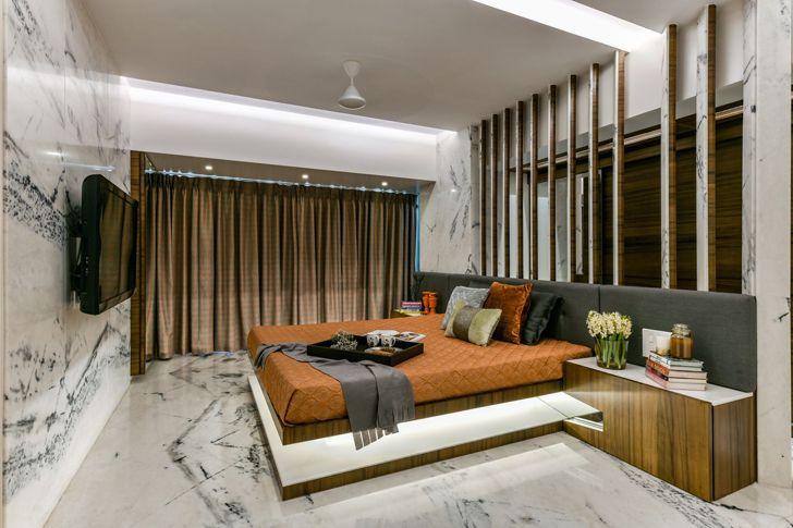 """luxurious bedroom mumbai residence AUM architects indiaartndesign"""