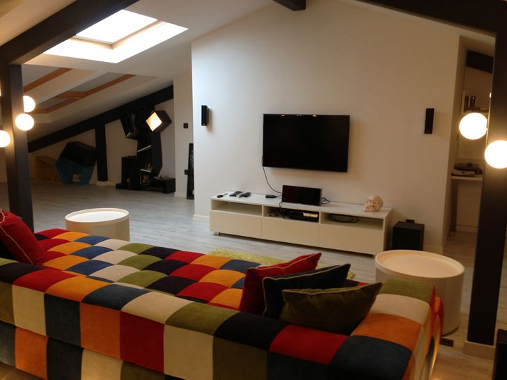 """""""by night attic loft project elips design architecture indiaartndesign"""""""
