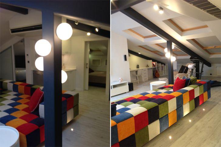 """mood lighting attic loft project elips design architecture indiaartndesign"""