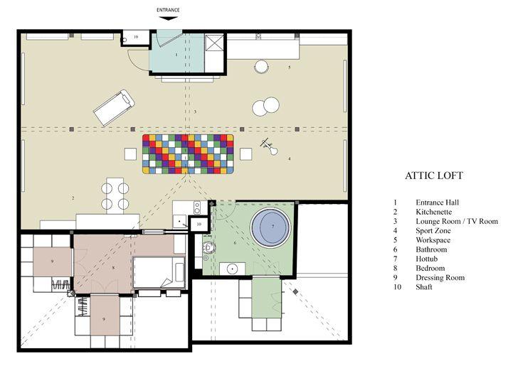 """plan attic loft project elips design architecture indiaartndesign"""