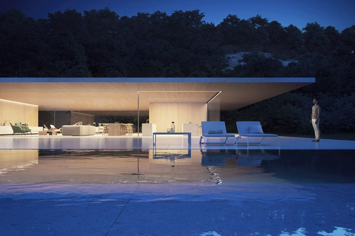 """view from swimming pool luxury residence sotogrande fran silvestre architects indiaartndesign"""