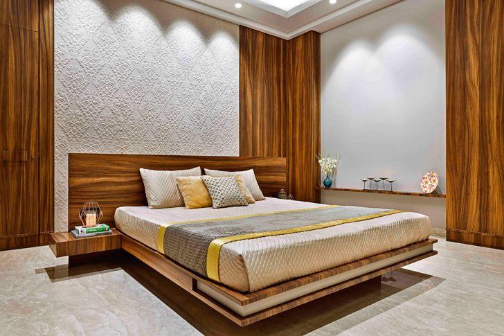 """luxurious bedroom chennai residence HS Desiigns indiaartndesign"""