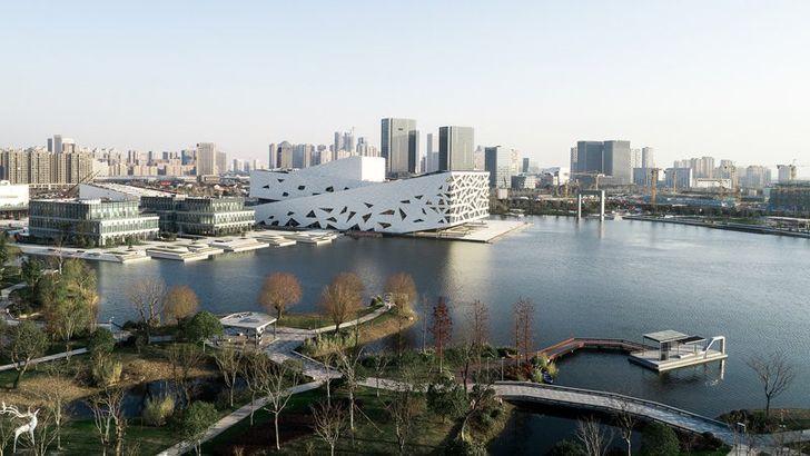 """birds eye view hangzhou opera henning larsen indiaartndesign"""