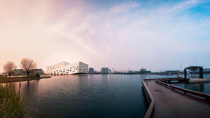 """""""lake at dusk hangzhou opera henning larsen indiaartndesign"""""""