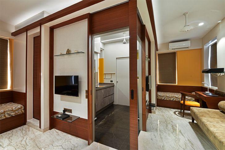 """guest room mumbai residence rajesh patel architects indiaartndesign"""