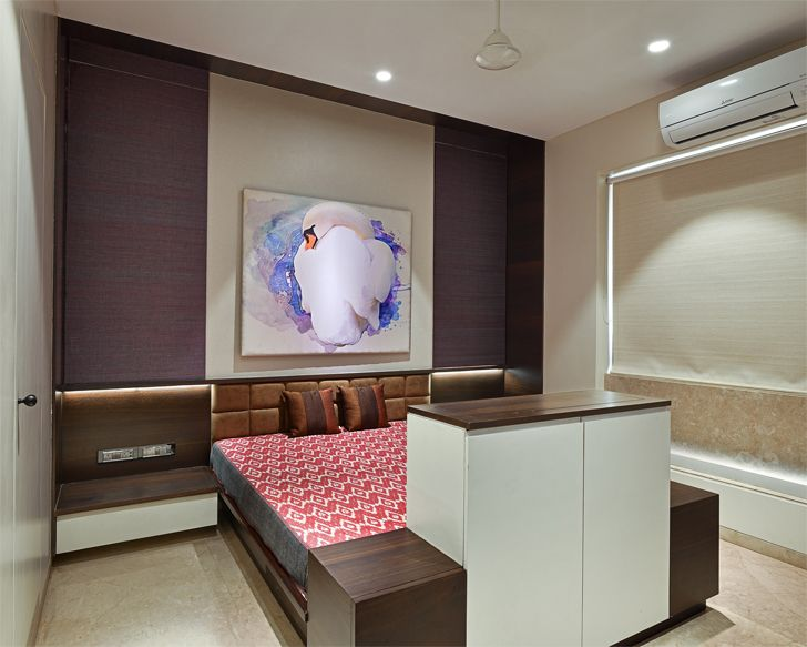 """master bedroom mumbai residence rajesh patel architects indiaartndesign"""