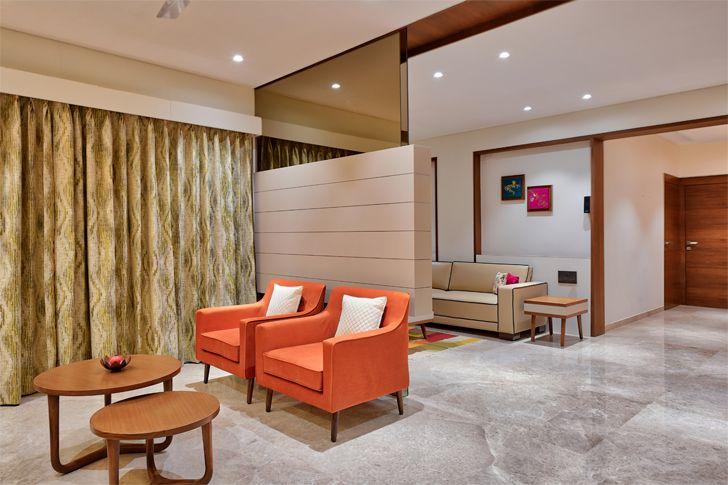"""mirror near ceiling gives floating effect Ahmedabad home shalin gandhi design studio indiaartndesign"""