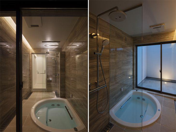 """luxurious bathroom N12 House Show Architects indiaartndesign"""