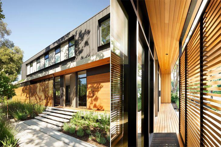 """wooden screens Palo Alto home Studio Vara indiaartndesign"""