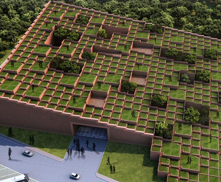 """Prestige University Indore Sanjay Puri Architects WAF 2019 indiaartndesign"""