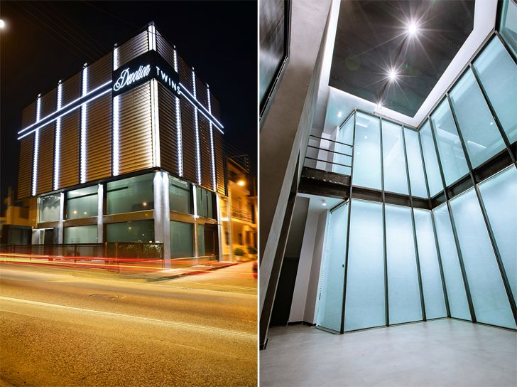 """exterior and interior devotion twins hq athens ADD architecture studio indiaartndesign"""