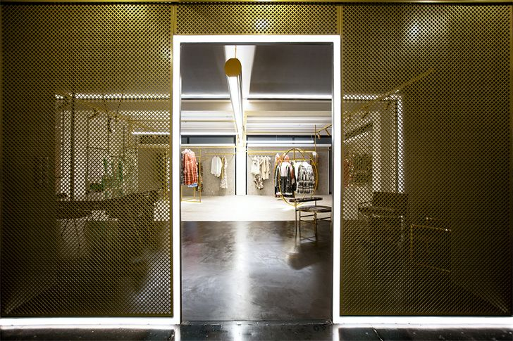 """mesh screen devotion twins hq athens ADD architecture studio indiaartndesign"""