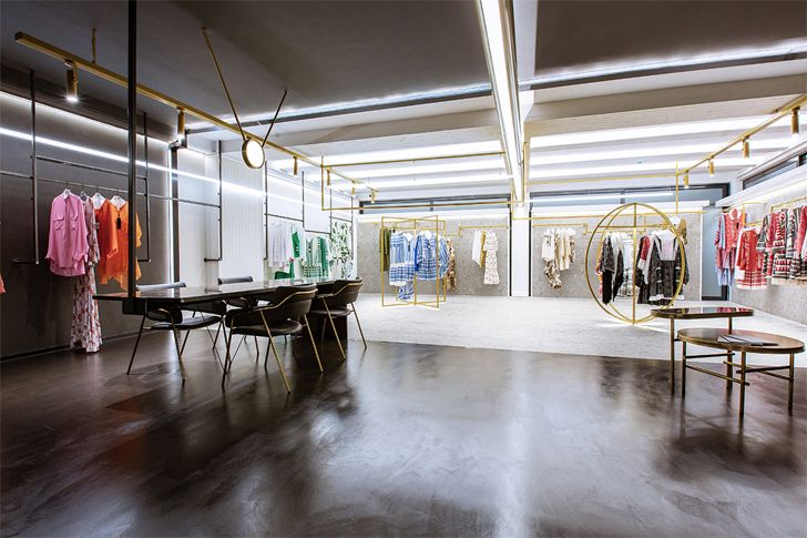 """showroom and sampling devotion twins hq athens ADD architecture studio indiaartndesign"""
