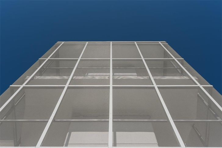 """metal mesh facade vision hotel alberto apostoli indiaartndesign"""