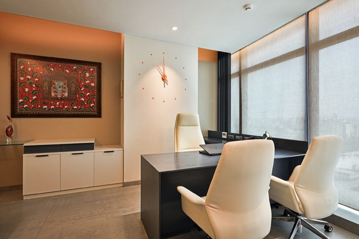 """MD cabin2 al tamoor office navi mumbai rajesh patel architects indiaartndesign"""
