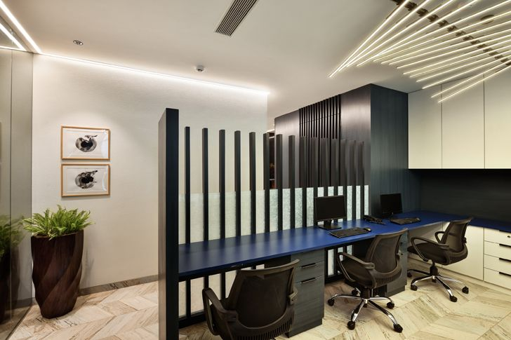 """louvred partitions al tamoor office navi mumbai rajesh patel architects indiaartndesign"""
