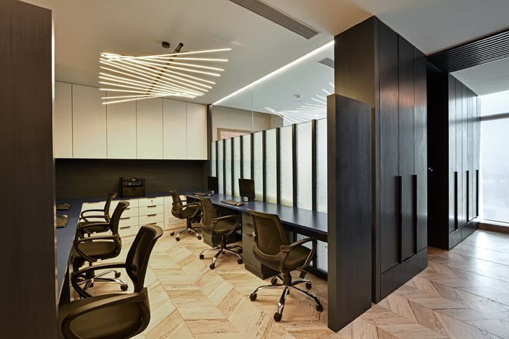 """workstations al tamoor office navi mumbai rajesh patel architects indiaartndesign"""