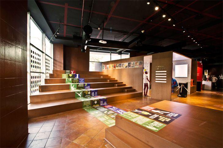 """floor graphics fanattic sports museum salient design studio indiaartndesign"""