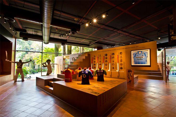 """""""open displays fanattic sports museum salient design studio indiaartndesign"""""""