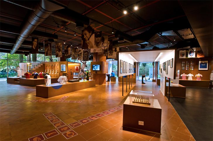 """open plan fanattic sports museum salient design studio indiaartndesign"""