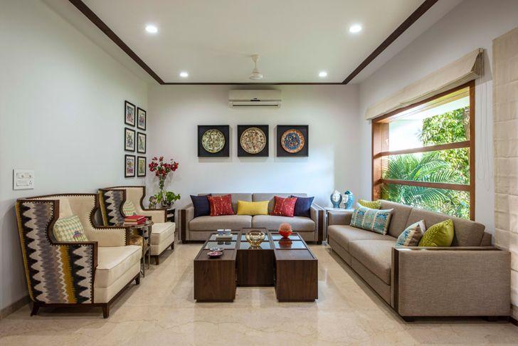 """living room akashvan baroda res studio yamini indiaartndesign"""