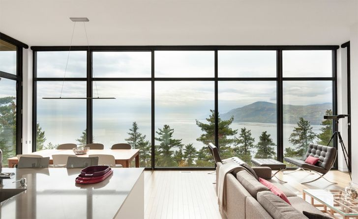 """panoramic views Home in the mountains Anne Carrier architecture indiaartndesign"""