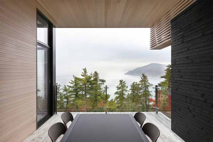 """scooped out volume Home in the mountains Anne Carrier architecture indiaartndesign"""