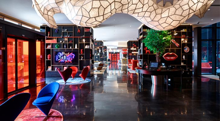 """CitizenM Shanghai Concrete indiaartndesign"""