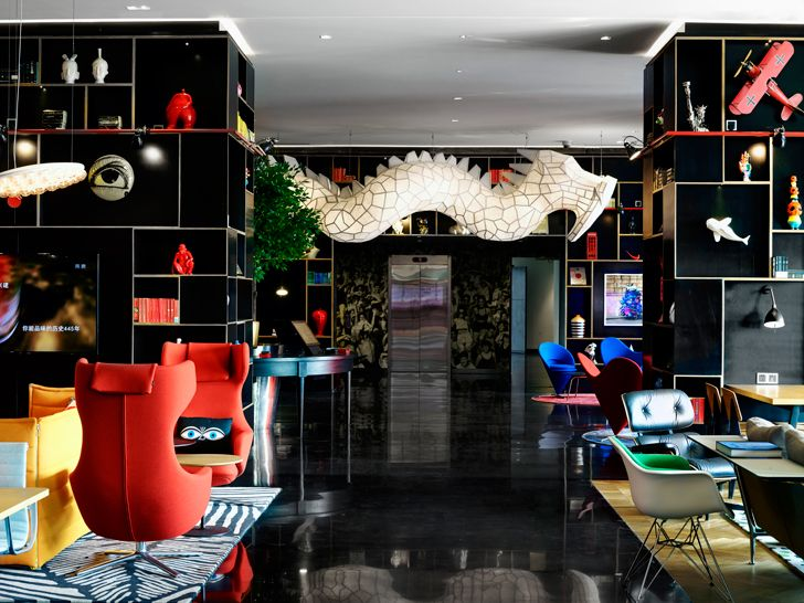 """check in CitizenM Shanghai Concrete indiaartndesign"""