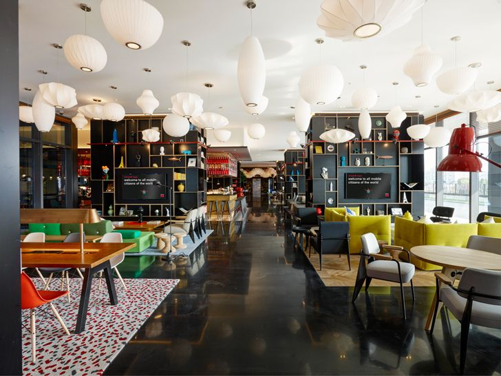 """heart of the hotel CitizenM Shanghai Concrete indiaartndesign"""