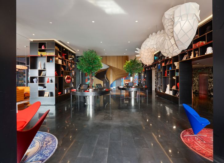 """iconic staircase CitizenM Shanghai Concrete indiaartndesign"""