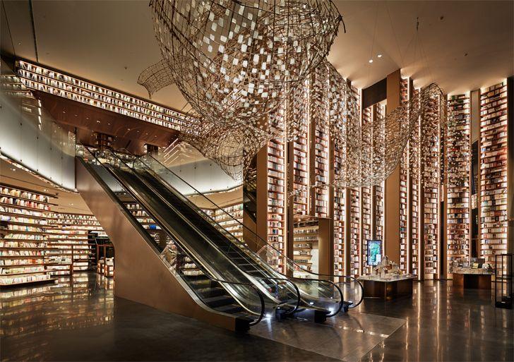 """escalators bookstore YJY Maike Flagship Xian Tomoko Ikegai indiaartndesign"""