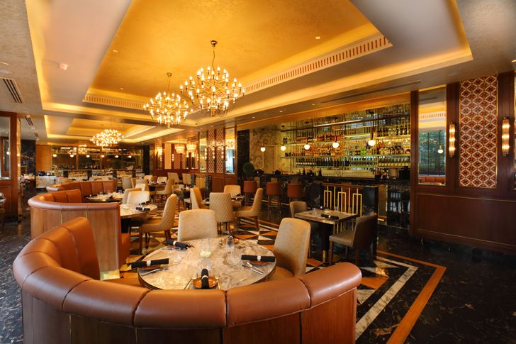 """gallery seating the punjab grill BKC mumbai IVPartners indiaartndesign"""