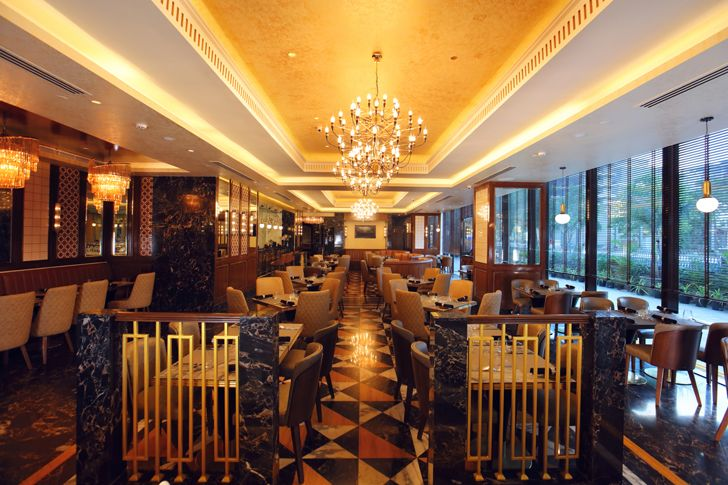 """linear expanse the punjab grill BKC mumbai IVPartners indiaartndesign"""