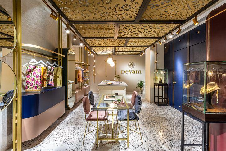 """""""fabric panels ceiling Devam limited edition design studio indiaartndesign"""""""