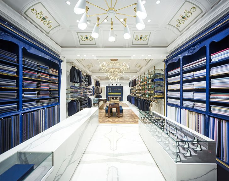 """antwerp blue colour scheme good suit company RMDK architects indiaartndesign"""