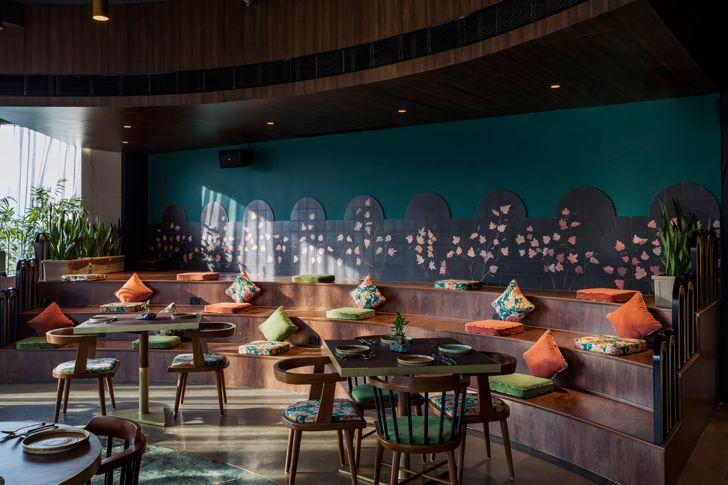 """casual zone esora restaurant saniya kantawala design indiaartndesign"""