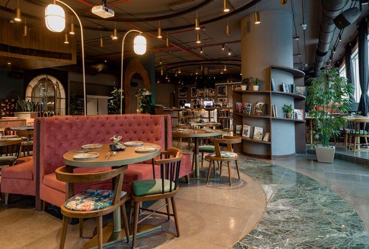 """circular layout esora restaurant saniya kantawala design indiaartndesign"""