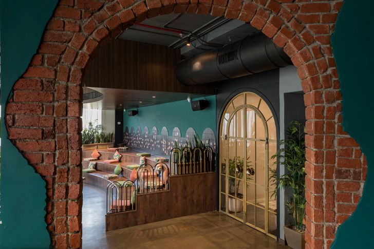 """fire brick arches esora restaurant saniya kantawala design indiaartndesign"""