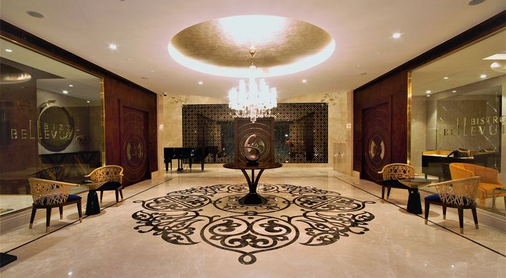 """entrance lobby 92 bellevue apts architect shahen mistry indiaartndesign"""